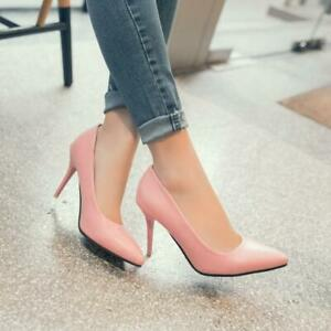 Womens-Formal-Business-Pointed-Toe-Shoes-High-Stiletto-Heel-Plus-Size-Pumps-HOT