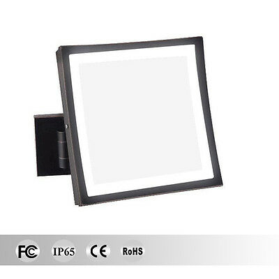 Wall Mount 3x Magnification Lighted Makeup Mirrors Square