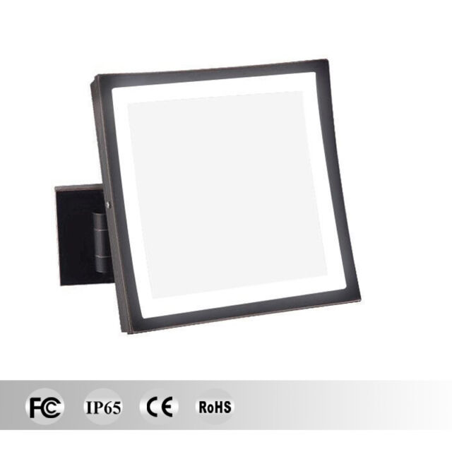 Lighted Makeup Mirror.Gurun 3x Magnifying Lighted Vanity Square Makeup Mirror With Hardwire Style