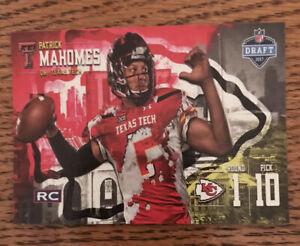 2017 ACEO Rookie Card Kansas City Chiefs Patrick Mahomes II NFL Draft