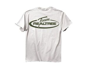 Team Realtree mens T-shirt White w Green logo 100% cotton short sleve 2XL XXL
