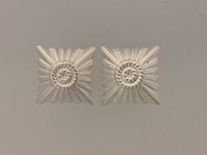 Details about German Army WWII Silver rank pips/stars  Medium for shoulder  boards 2 PIPS