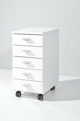 bxhxt Farbe: Weiß Und Rot 28 X 57 X 40 Cm Fein Verarbeitet Rollcontainer Mit 5 Schubkästen