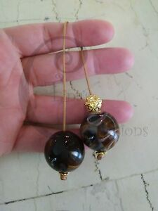Greek-Begleri-mini-komboloi-smoky-brown-20mm-bead-brown-cord-tinas-creations-gb