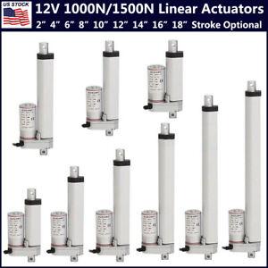"""2/""""-18/"""" Stroke 1000N//1500N Heavy Duty DC12V Electric Linear Actuator Putter Motor"""