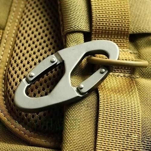 Aluminum Alloy Snap Clip Hook Keychain Hiking Climbing Heavy Duty Carabiner