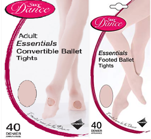 Silky Essential Convertible and Footed Pink Ballet Dance Tights All Sizes