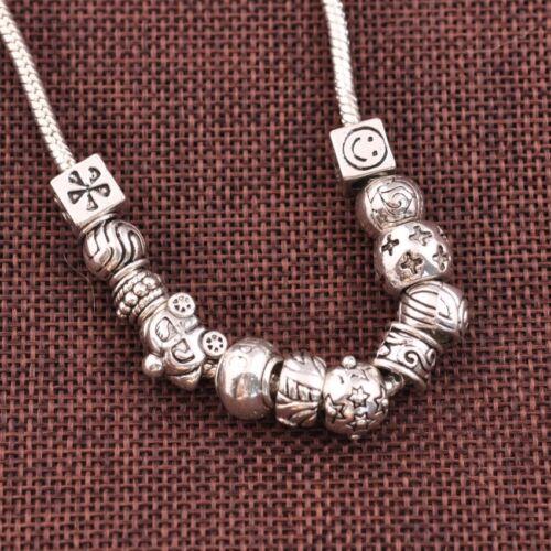 5//10Pcs Tibetan Silver Big Hole Charme Européen animaux BEAD FINDINGS