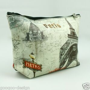Kosmetiktasche Eiffelturm Paris Metro Etui Kulturbeutel Beauty Case Makeup Bag