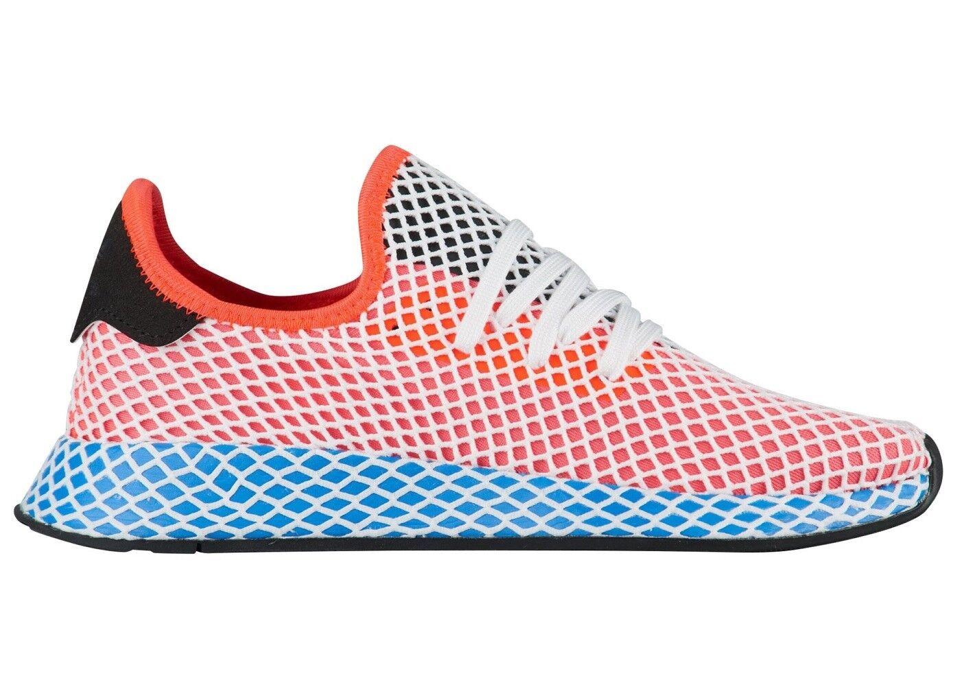 Adidas Deerupt Runner Womens AC8466 Solar Red blueebird Running shoes Size 6