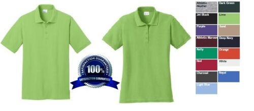4 SOIL RELEASE PIQUE Custom Embroidered Mens / Ladies * FREE LOGO * POLO SHIRTS