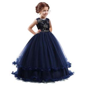 Spitze Tutu Mädchen Kleid Hochzeit Kinder Prinzessin Bestickte shQtdCrx