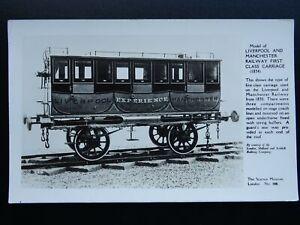 L-amp-M-Railway-Transport-c1834-LIVERPOOL-amp-MANCHESTER-CARRIAGE-c1950s-RP-Postcard