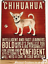 20cm-metal-vintage-style-Chihuahua-lover-gift-breed-character-hang-sign-plaque thumbnail 1