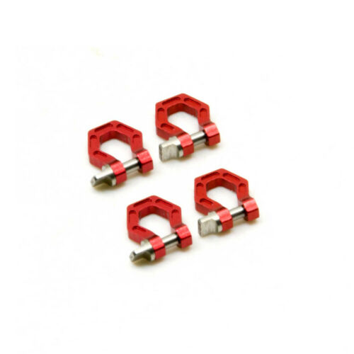 4pcs Alloy Tow Shackle D-Rings Hooks For Axial SCX10 D90 TRX4 //10 RC Crawler