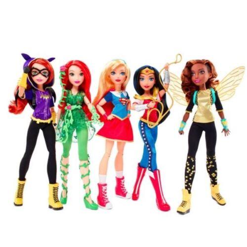 DC Super Hero Girls 12 Katana, Supergirl, Cheetah, Harley Quinn, Batgirl Dolls