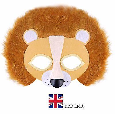LION FACE MASK Safari Jungle Zoo Scary Fancy Dress Accessory Mens Boys Girls UK