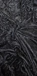 "Bluey Oscuro Gris Diamante Ice Crush tejido de terciopelo 58/"" Precio Por Metro"