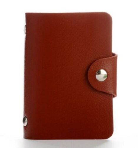 New 3 Colour PU Leather 24 ID Credit Card Case Business Holder Mens Women Wallet