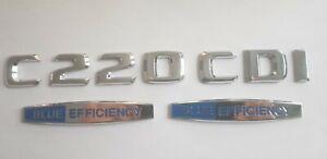 C220CDI-C220-CDI-BlueEFFICIECY-Trunk-Emblem-Badge-logo-Mercedes-embleme-du-tronc