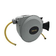 "Power Retractable Hose Reel 5/8"" X 50 Ft, Super Heavy Duty, 500 PSI Burst"