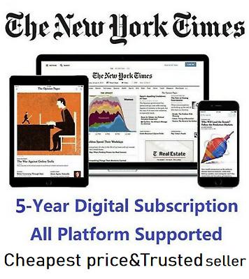 The New York Times 5 Year Digital Subscription All Platforms Region Free Ebay