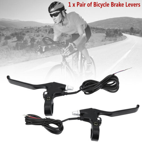 1 Pair 2 Wires Left /& Right E-Bike Bicycle Electric Brake Lever Replacement Part