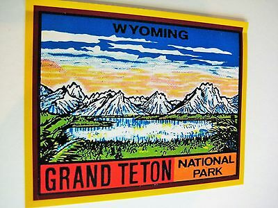 Grand Teton National Park Wyoming Vintage Travel Style Decal  Sticker Car Window