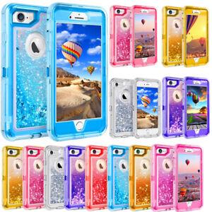 san francisco b3ee6 8ff5d Details about For iPhone 6 Plus 6S Plus Glitter Liquid Defender Case (Belt  Clip Fits Otterbox)