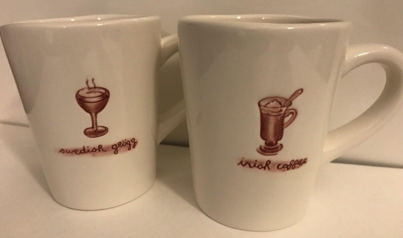 Williams Sonoma Set Of 6 Ceramic Hot Drinks Mugs Mugs Mugs Coffee Cider Toddy Eggnog f4646a