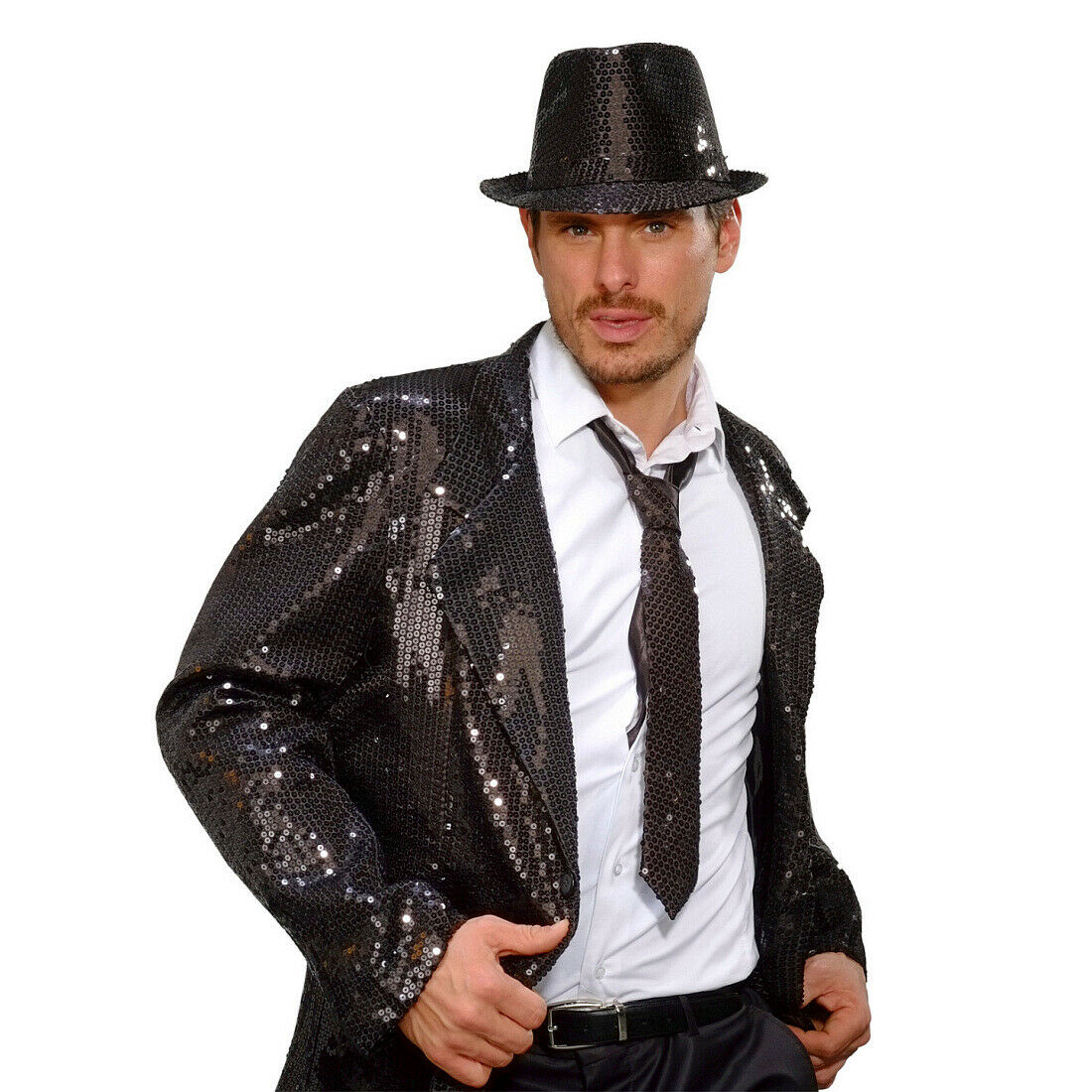 Brillantes lentejuelas-corbata unisex lentejuelas-corbata brillo-corbata negra