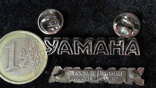 Motorräder Motorrad Biker Pin Badge Yamaha Logo Pin Schriftzug selten rare doubl