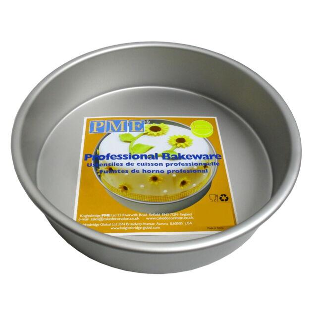 """PME 6x2/"""" ROND Cercle Anodisé Aluminium Gâteau Cuisiner Plat Étain Moule Sucre"""