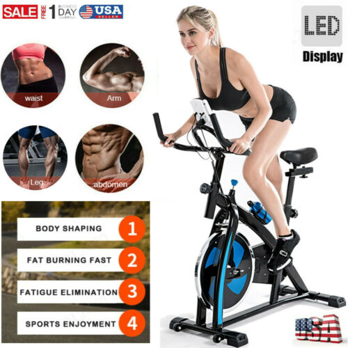 Blue Bicycle Cycling Fitness Exercise Stationary Bike Cardio Home Indoor GYM USA