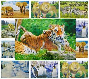 120x Puzzle groß Tiere Mix 28x21 cm 70 Teile Restposten Sonderposten Posten 594