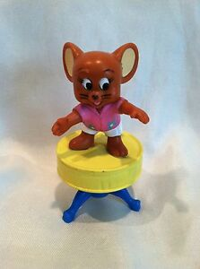 Hanna-Barbera-Tom-amp-Jerry-Jerry-Standing-on-foot-stool-3-034-Figure-by-Turner-Ent