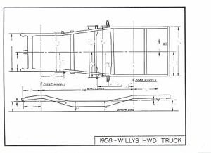 47 48 49 50 51 52 53 Willys Jeep Nos Frame Dimensions Ebay