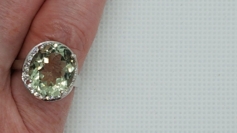 Jaynes Gem Gem Gem SPLENDIDA NATURALE 5CT verde amerthyst dimensione N US - 0 US 6.5 f79e78