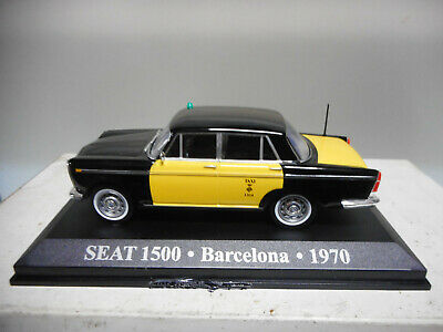 1//43 SEAT 1500 TAXI BARCELONA 1970 COCHE DE MWTAL A ESCALA