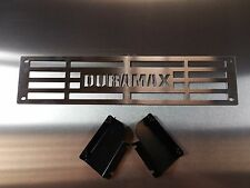 "Bumper Grille Insert 2015-2017 Silverado 2500 3500HD ""Duramax"" Brushed Stainless"