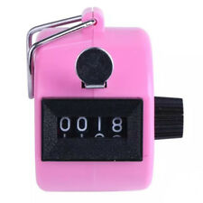 Round Base 4 Digit Manual Hand Tally Mechanical Palm Click Counter P4Z8