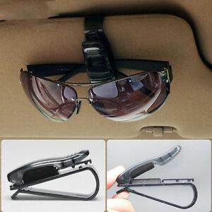 NEUVE-accessoires-de-voiture-Noir-portable-support-plastique-Lunettes-de-soleil