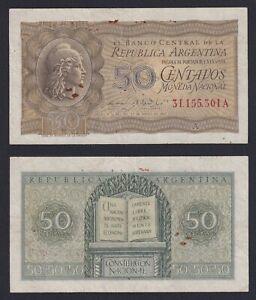 Argentina 50 centavos 1950 bb/vf A-07