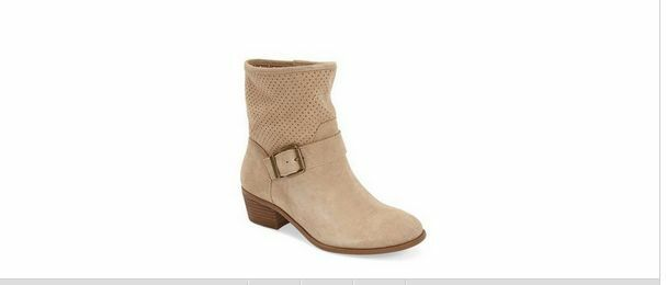 Sole Society 'Sola' Perforated Suede Western Bootie  sesame 7.5m new