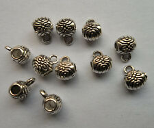 30 pcs Tibetan silver flowers charms connector 6x8 mm