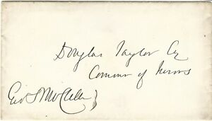 Civil-War-General-George-B-McClellan-Union-Army-Signature-on-Cover