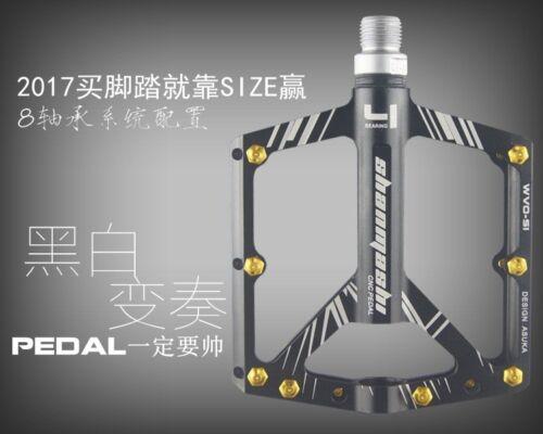 "SMS Road BMX MTB XC AM Bike Bicycle 3 Bearings Pedals flat Platform Pedal 9//16/"""