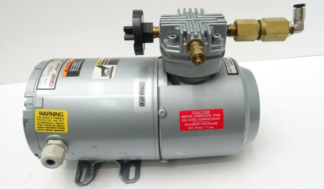 Druckluftkompressor GAST Luftkompressor Pumpe Compressor Ölfrei 230V 0,12kW 7bar