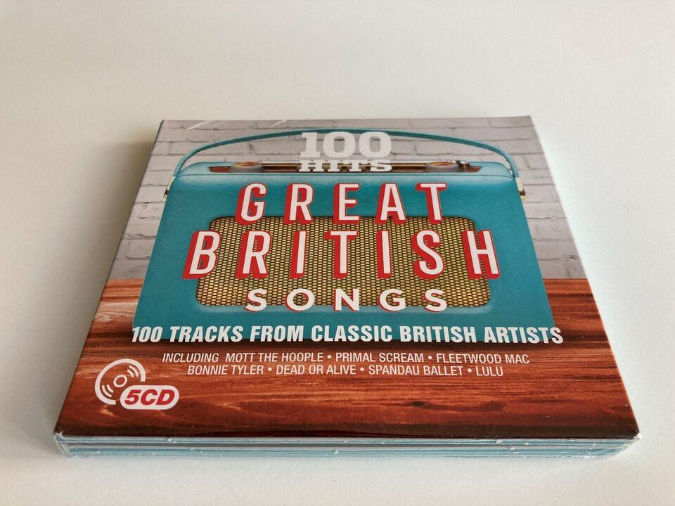 Diverse kunstnere: 100 Hits Great British Songs, rock