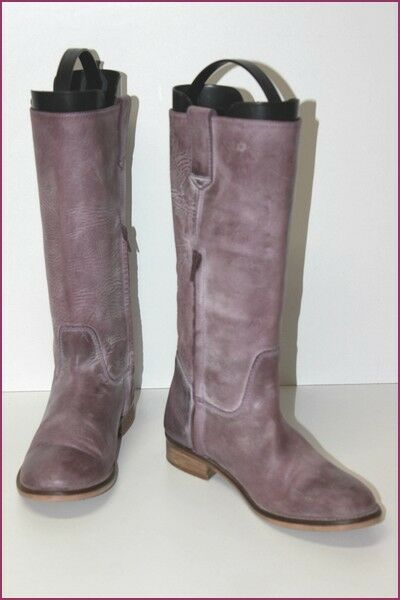 Mid Leather Boots Bleached Parma Lined leather T 39 BE